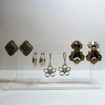 4 PC Lot Solid 925 Sterling Silver Pierced Earrings Jewelry No Stones 23... - $49.49