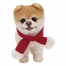 Pacific Giftware PT Short Hair Boo Dog with Red Christmas Scarf Decorative Resin - $24.74