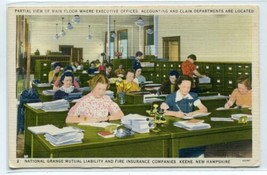 Office Clerical Interior National Grange Insurance Keene New Hampshire p... - $6.93