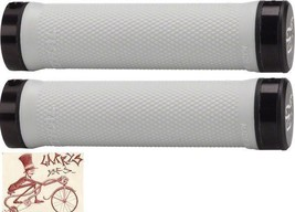 RENTHAL SUPER COMFORT WHITE LOCK-ON MTB BICYCLE GRIPS - $24.85