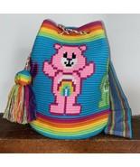 Authentic 100% Wayuu Mochila Colombian Bag Large Size Special care bears - $148.50