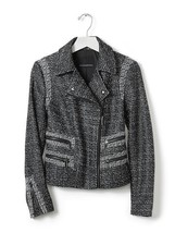 Banana Republic Women's Pieced Moto Jacket, 100% Polyester, Black, Size ... - $83.10