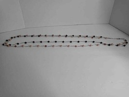 Talbots Black/Gold Double Strand Bead Necklace - $7.70