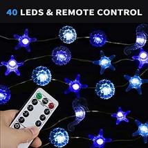MZD8391 6.5FT 20 LED Decorative String Lights, Seahorse Starfish Beach D... - $10.05