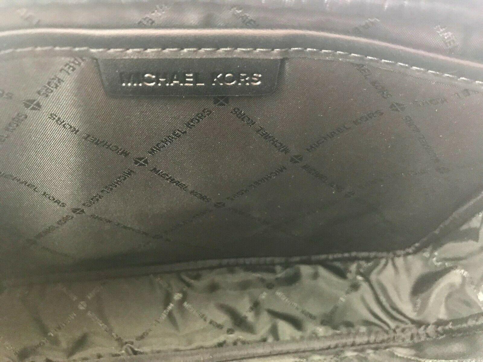 Michael Kors Fulton Sport PVC Monogram Cross Body Box Bag Black Medium Handbag