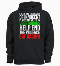 Eat Bacon Dad Fathers Day Gift Lad British Kids Hoody Hoodie Youth - $19.29