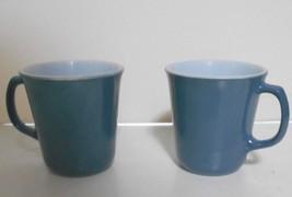 Set of Two  Corning Ware NY Blue D Handle Mugs 8 oz - $12.53