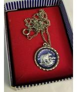 """Adirondack Mountains Silver 9"""" Bear Necklace - $31.43"""