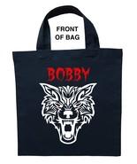 Werewolf Trick or Treat Bag, Personalized Werewolf Halloween Bag, Werewo... - $11.99+