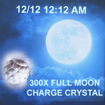 Haunted FREE W $75 300x 12/ 12 12:12 am FULL MOON FACETED CHARGE CRYSTAL... - $0.00