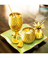 Pineapple Mugs Beer Copper Mug Stainless Steel Cup Cocktail Cup Glass Ba... - $29.99