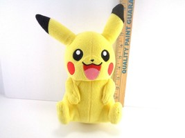 "Nintendo Pokemon Tomy Pikachu 8"" Plush Smiling Hasbro Pocket Monster Stu... - $10.88"