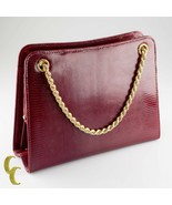Vintage Gucci Galleria Lizard Purse Solid 18k Yellow Gold Accents and Strap - $8,910.00