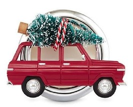 Bath & Body Works Red Car With Christmas Tree Scentportable Visor Clip - $11.99