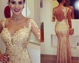 Gold sexy mermaid elegant party cocktail evening long prom dresses online pd0178 thumb155 crop