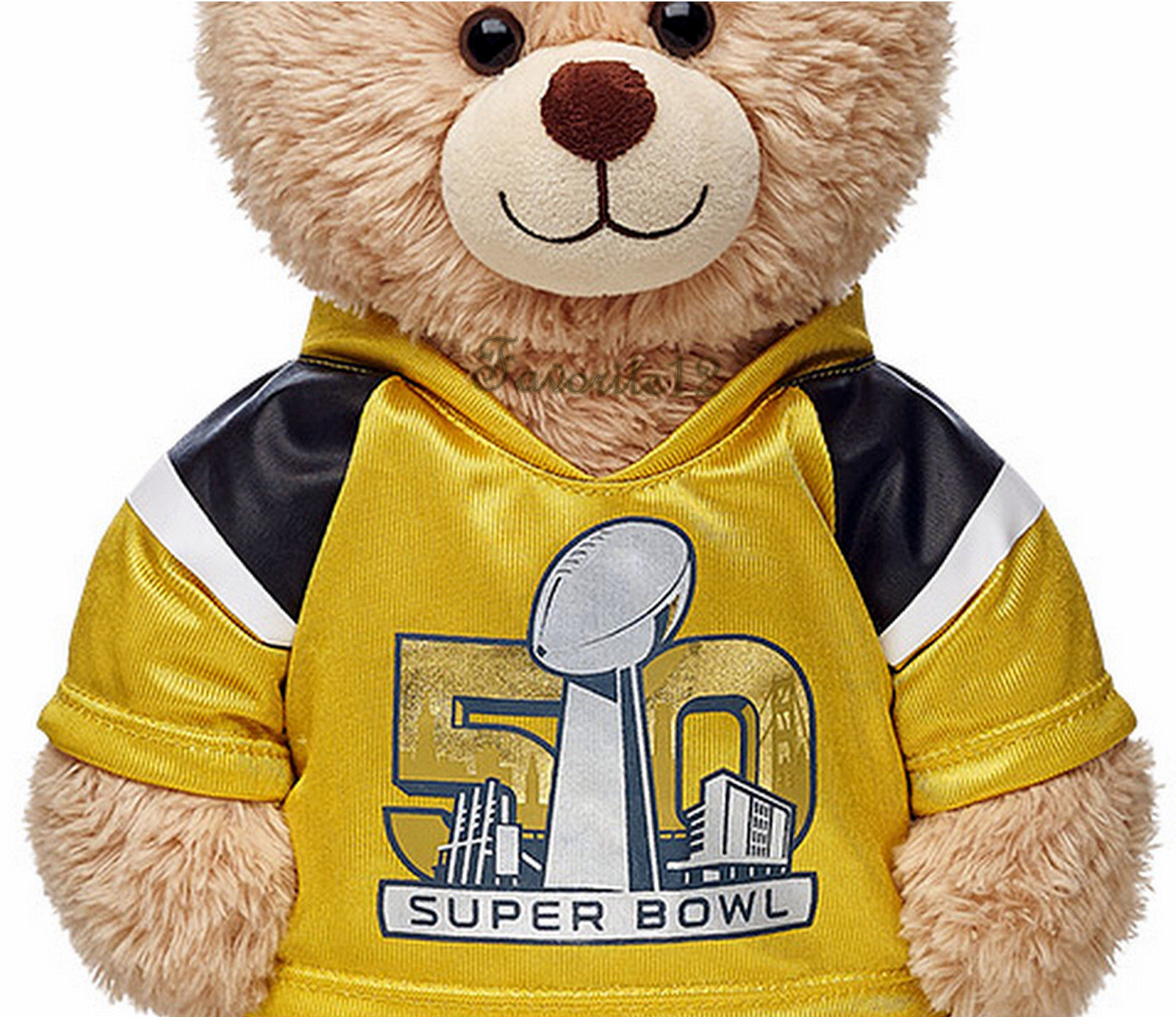 build a bear super bowl 50 golden football jersey nfl teddy size gold t shirt build a bear. Black Bedroom Furniture Sets. Home Design Ideas