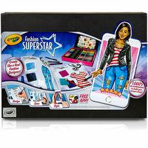 Crayola Fashion Super Star Build Your Virtual Closet Set Design Scan Style w App image 2