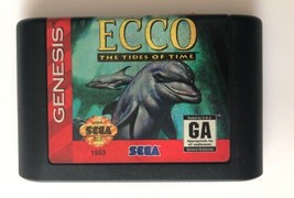 ☆ Ecco The Tides of Time (Sega Genesis 1994) AUTHENTIC Game Cart Tested Works ☆ - $8.99