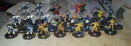 WIZKIDS MARVEL HEROCLIX CLOBBERIN TIME 28 FIGURE LOT - $14.00