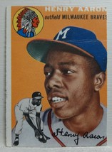 Original Genuine Authentic 1954 Topps Hank Aaron Rookie Card #128 *TRIMM... - $2,499.99