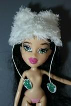 Bratz Barbie Fuzzy White Cat Hat & Mittens Doll Clothing Accessories  - $15.83