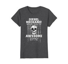 FL ShopAmerican Funny Diesel Mechanic Shirt USA Truck Mechanic Wowen - $19.95+