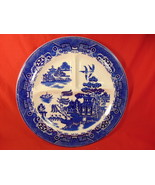 "10 3/4"" Diameter Blue Willow, Divided Grille Plate, August Hashagen, Eng... - $24.99"