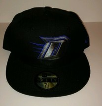 "DePaul Blue Demons New Era 59FIFTY HAT fitted men's 7 1/8  ""NCAA Black B... - $22.50"