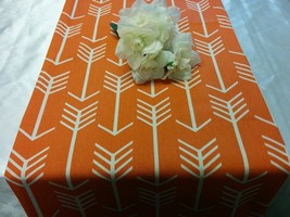 ARROWS TABLE LINENS  Table Runner, or Napkins, or Placemats, Orange, Tea... - $11.00
