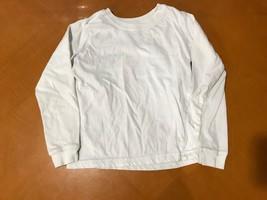 Girls Kids Carter's White Long Sleeve Shirt Shirt Size Small 6-7 - $2.96