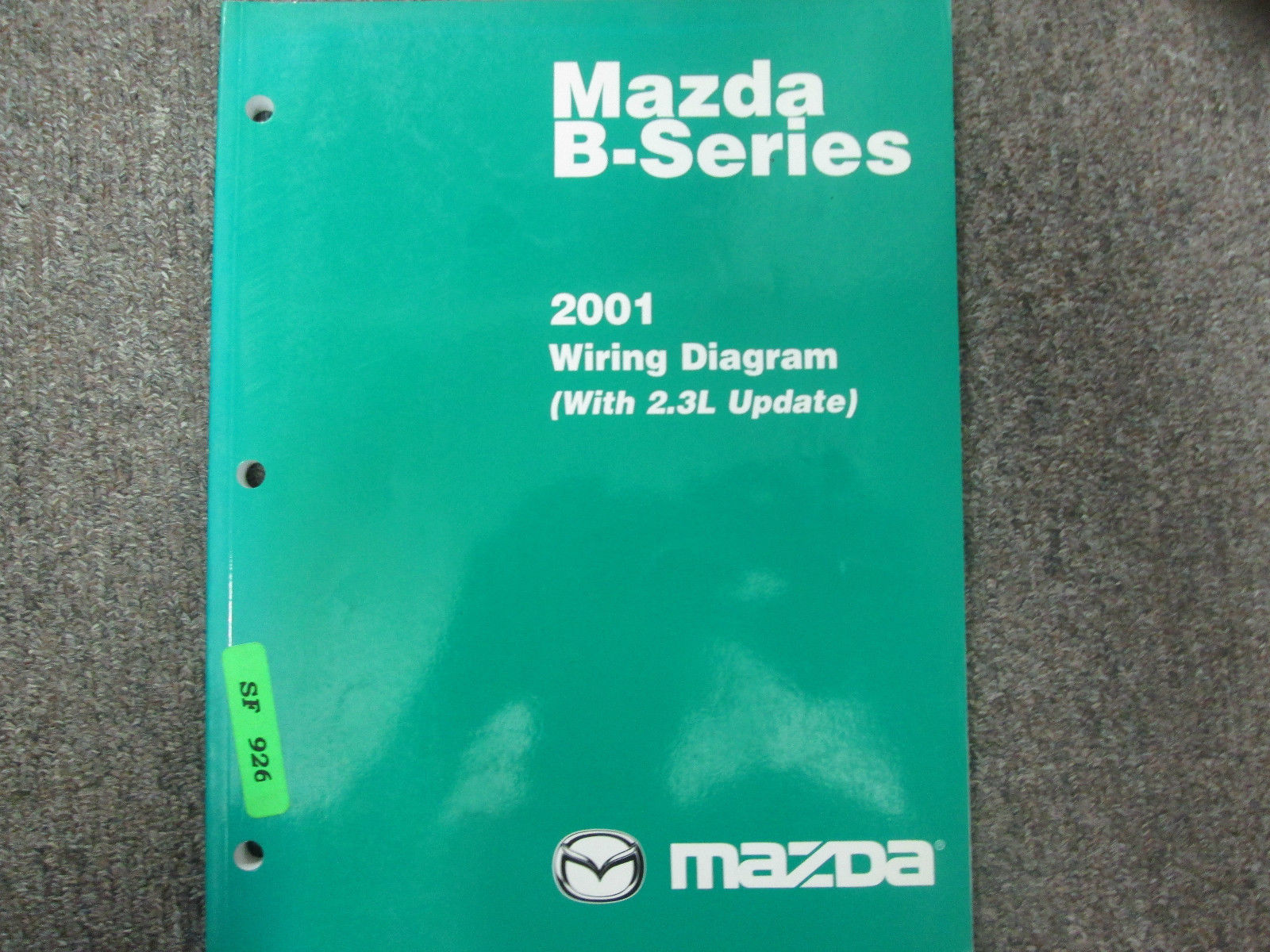 Primary image for 2001 Mazda B-Series Truck 2.3L Update Electrical Wiring Diagram Manual OEM BOOK
