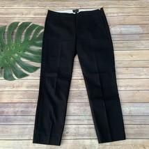 J.Crew Martie Ankle Pants Size 10 Black Side Zipper Stretch Slim Straigh... - $32.66