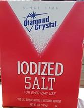 Diamond Crystal Table Iodized Salt, 4 Pound Pack of 2