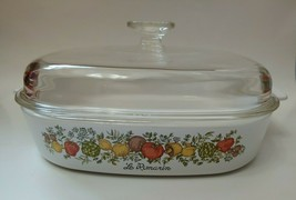 Corning Ware A-10-B Le Romarin Spice Of Life 10x10x2 Square Casserole With Lid - $32.66