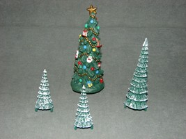 Mr. Christmas Holiday Skaters 1995 Replacement Part: Christmas Tree + 3 Pines - $15.00