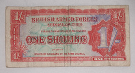 British Armed Forces Special Voucher ONE SHILLING 2nd Series 1952 Free Ship USA - $11.14