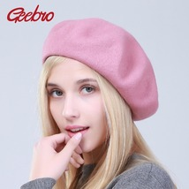 Women's Beret Hat Fashion Solid Color Warm Wool Spring Berets women French - $23.99