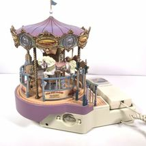 Great American Musical Merry Go Round Carousel Corded Novelty Phone Wind Up image 5