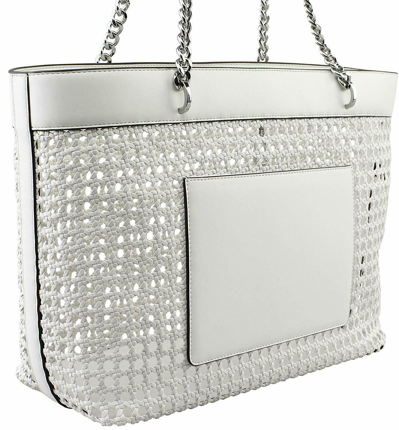 Michael Kors Kinsley Large Tote in Optic White