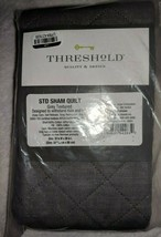 Standard Family Friendly Solid Pillow Sham Gray - Threshold - $19.79