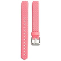 FitBit Alta Pink With Metal Buckle Replacement Band Pink & Silver Buckle... - $8.99
