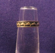 Vintage Marked 925 Toe Ring Or Band w/ Dolphins Adjustable - $10.65