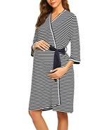 Ekouaer Maternity Sleepwear Kimono Bathrobe Lace Trim Comfy Nursing Robes - $26.93