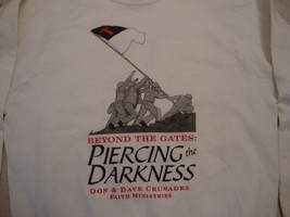 Vintage Don & Dave Crusades Faith Ministries White Crew Neck Sweatshirt Size L - $17.81