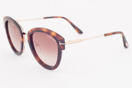 Tom Ford MIA Havana / Brown Mirrored Sunglasses TF574 52G MIA-02 - $185.22