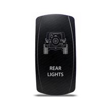 Rocker Switch Jeep Wrangler JK Rear Lights Symbol - White LED - $16.44