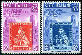 Centenary of Tuscany Stamps Set of 2 Italy Postage Stamps Catalog 568-69 MNH