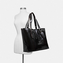 Coach Ferry Beach / Travel / X-LARGE Tote Patent Pearl Finish, Black  81... - $148.01