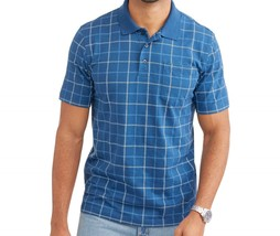 George Mens Patterned Ocean Blue Jersey Pocket Polo Shirt Size XLarge New w/Tags - $9.88