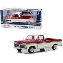 1973 Ford F-100 Ranger Pickup Truck Red and Cream 1/18 Diecast Model Car... - $77.08